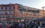 北京一大厦大面积坍塌