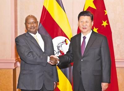 习近平会见乌干达总统穆塞韦尼