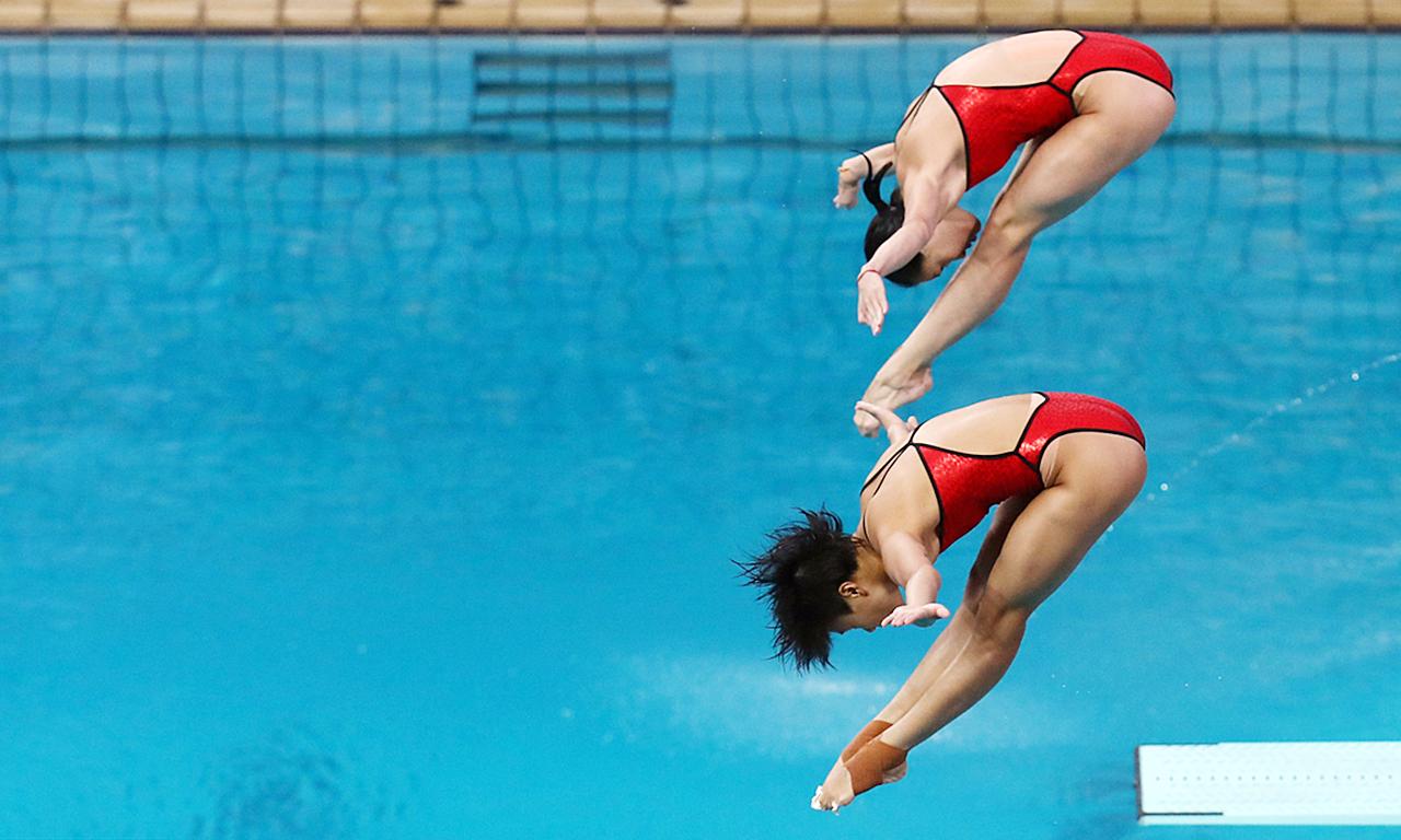 上届榜首湛江跳水队再入省运跳水赛 16名跳水新星