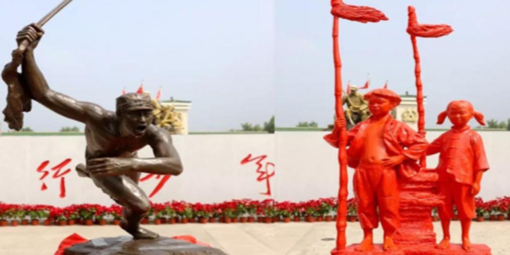 中央军委后勤保障部向武乡捐赠雕塑作品