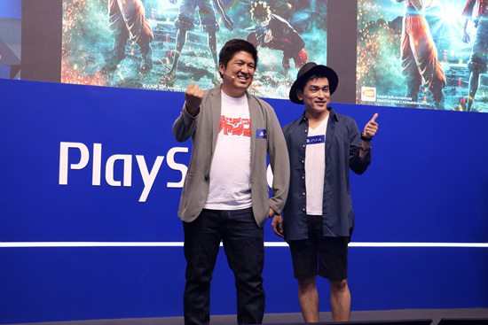 本作的制作人之一平田玲(左)与黑崎一护声优森田成一