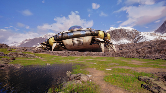 弗利萨飞船坠落在马特洪峰上