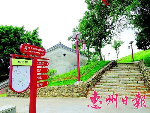 稔山镇在村道各处设立导览图和指示牌 方便游客游玩