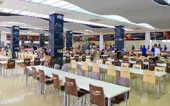 学校食堂A、B等级率已提升至91%