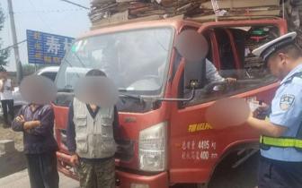 沁县交警大队查处一起货车超员交通违法行为