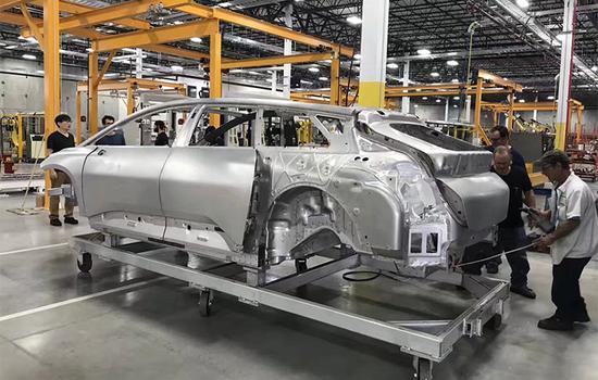 FF 91首台白车身下线 汉福德工厂启动整车组装