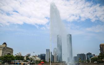 南昌秋水广场音乐喷泉升级改造完成