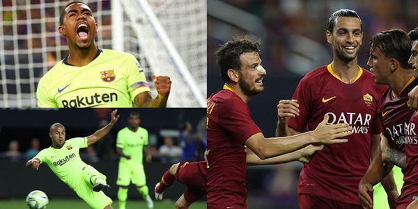8分钟丢3球!巴萨2-4负罗马 截胡新援处子球