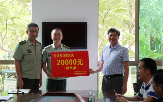 八一建军节 海南琼中县党政领导走访慰问部队