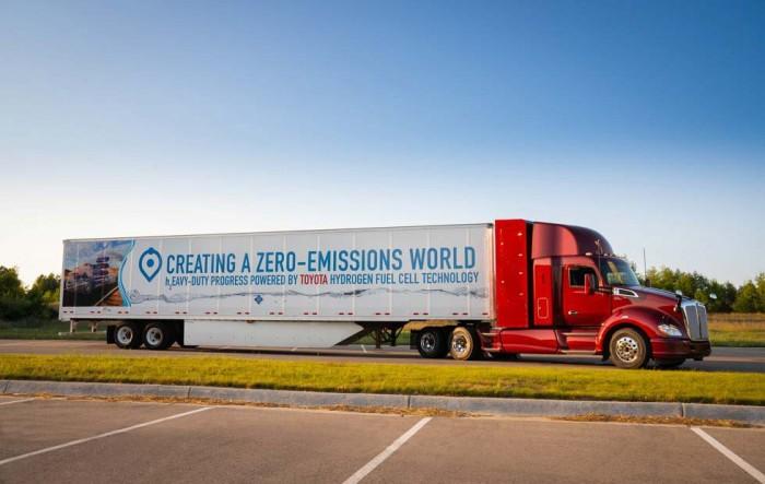 续航能力480公里 丰田测试第二代燃料电池卡车