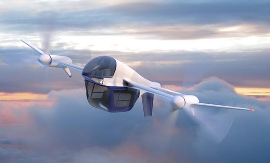 Terrafugia的第二款产品以是垂直起降飞机TF-2
