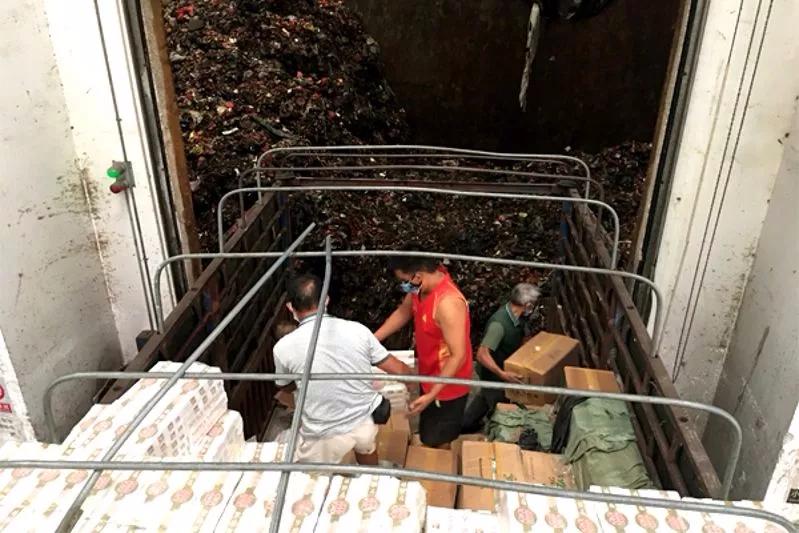 东兴海关联合烟草局无害化销毁走私卷烟4280件