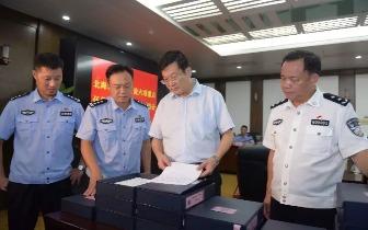 蔡锦军检查市公安局 落实政治建设六项重点任务工作