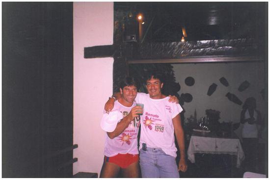 凯撒(右)和雷纳托的合影