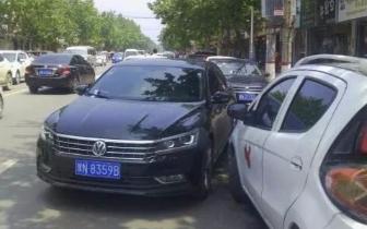 违法|民权乱停放违法案例曝光 交警提示:请按规定停车