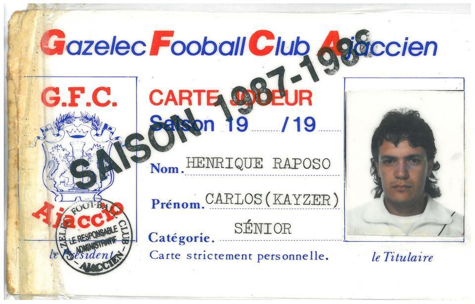 凯撒的球员注册卡