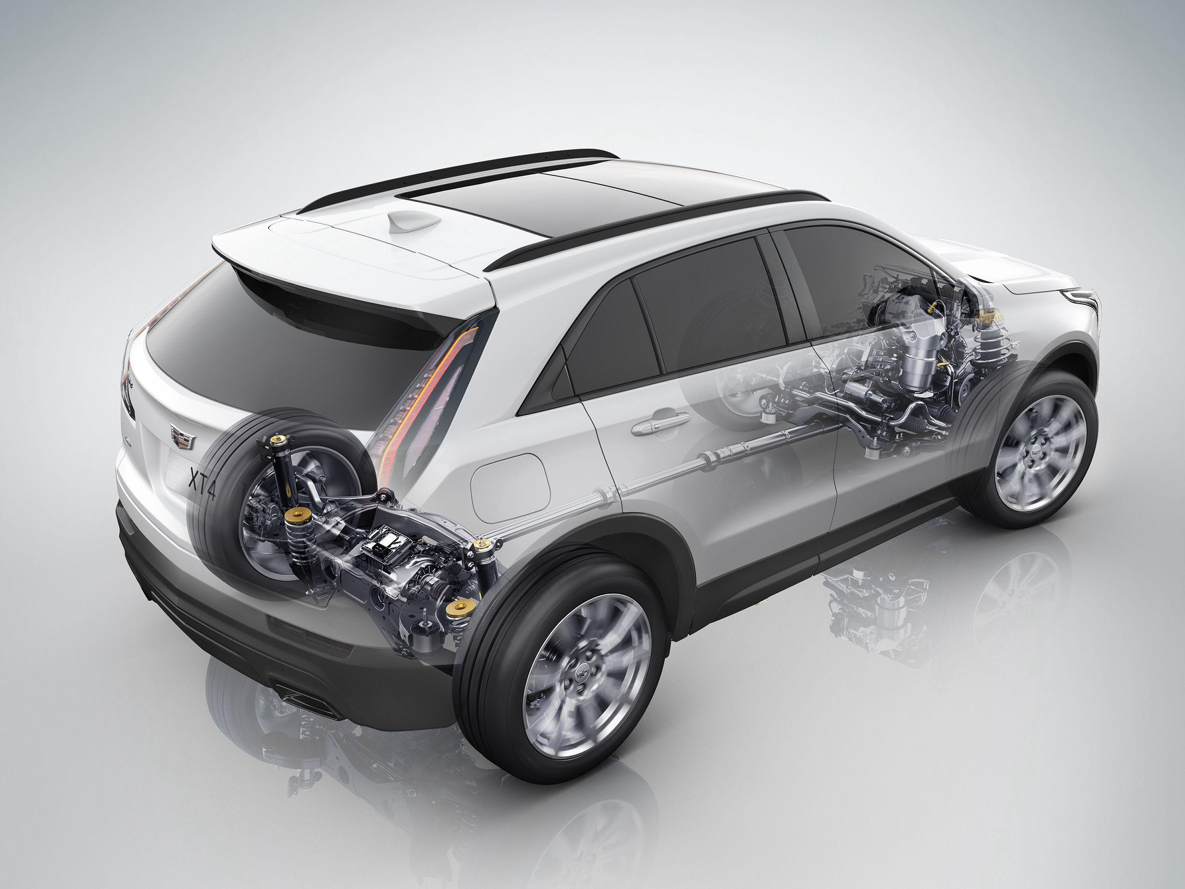 凯迪拉克XT4配备的智能双离符合时四驱体系