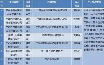 防城港11家建筑施工单位被责令停工整改