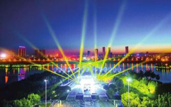 大型夜景光影喷泉成襄垣县靓丽景观