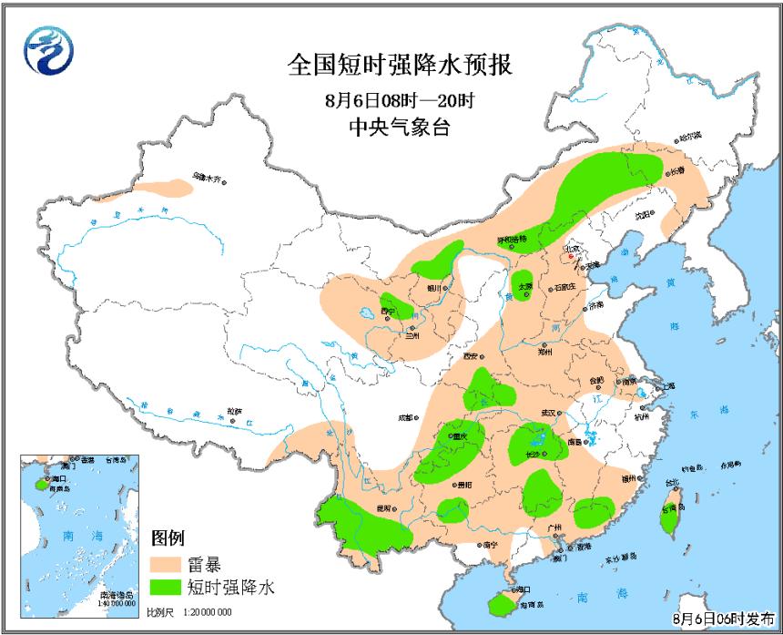 华北江南西南等地有强对流天气 津京冀等地有降水