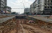 南充华荣路下穿隧道现雏形 下月完工!