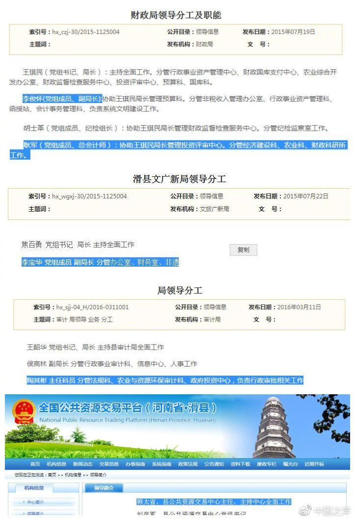 河南滑县政府部门经商办企业 多个领导在企业兼职