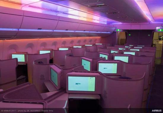 国航a350商务舱  图片来源:空客