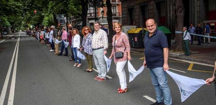 渴望通过公投独立而脱离西班牙政府管辖的巴斯克群众