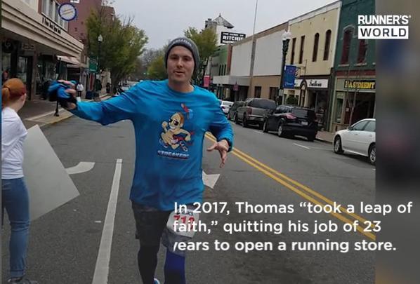 曾经跑100步都困难 如今已连跑1000天5公里