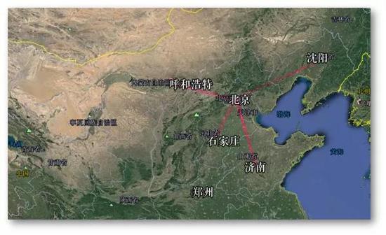 手绘中国地图重要山脉