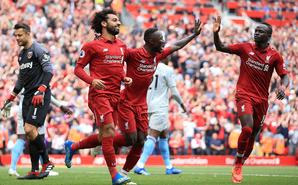 英超-利物浦4-0西汉姆暂登顶