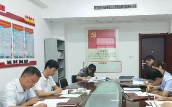 示范区办公室党总支第一支部组织生活会召开