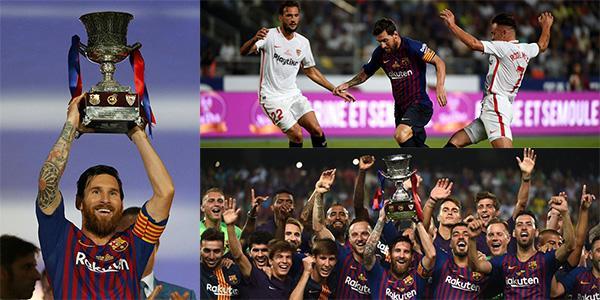 西超杯-登贝莱轰世界波小狮王扑点 巴萨2-1夺冠