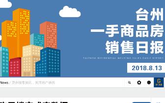 2018年8月13日台州市一手商品房成交207套