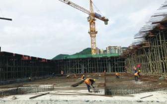 南充火车北站站前广场主体工程完成过半