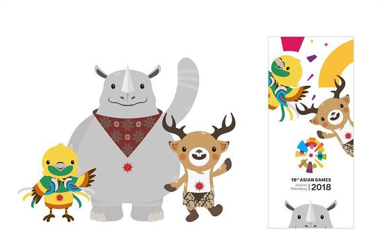 2018亚运会吉祥物 印尼三种野生动物为原型