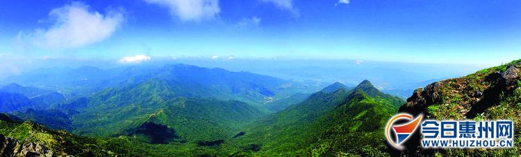 惠东莲花山:粤东南最高峰 地处惠东与海丰交界处