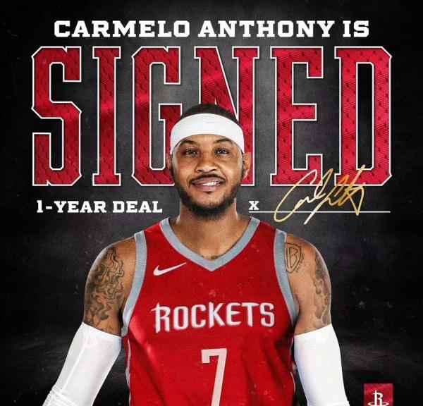 甜瓜安东尼加盟 NBA最新夺冠赔率:火箭仍屈居第3
