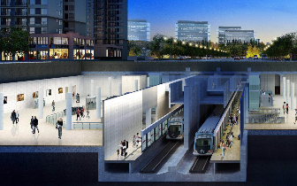 温州S1线'永中站'主体工程圆满封顶