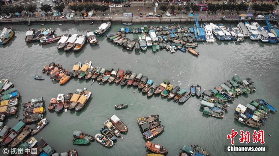 """广东全力防御台风""""贝碧嘉"""" 渔船回港避风"""