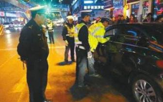 泸县毗卢镇开展夜间道路交通安全检查