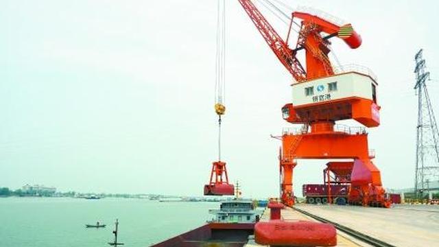 长沙铜官港开港运营 湘江又添一重要物流枢纽港口