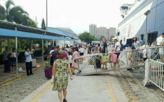 台风遇上开渔前补给 北海航道堵塞致上千游客滞留