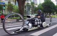前车手打造无辐条摩托