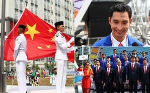 亚运会中国代表团举行升旗仪式