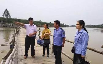 防城港市环保局甘炳洪局长一行调研上思县明江