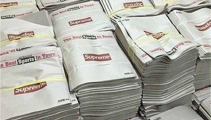 《纽约邮报》印上了Supreme的logo后贵了40倍