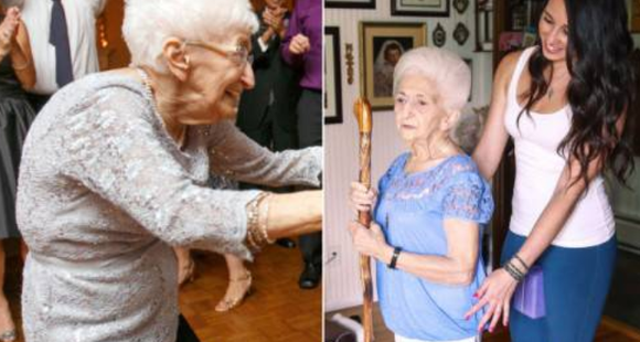 90岁老太练瑜伽 竟治好了几十年的驼背