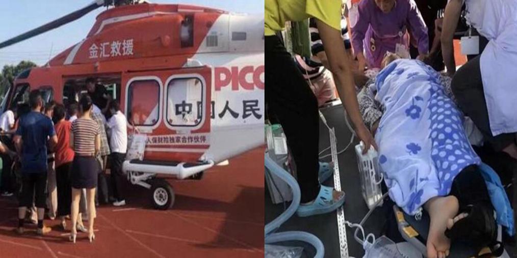 泰州首例空中急救病人顺利转院