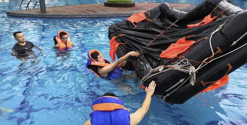 洋浦海上搜救分中心组织海上搜救技能培训班